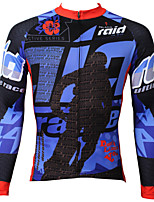 Men's Paladinsport Winter Fashion Quick Dry Anti-sweat Long Sleeve Cycling Jersey Top - Multicolor