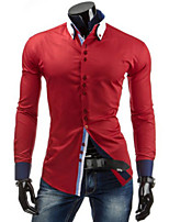 Men's Long Sleeve Shirt , Others Casual Pure