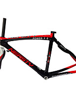 RB-NT28+FK-NG28 Neasty Brand Red and White700C Full Carbon Fiber Frame and Fork 3K/12K Weave 50/52/56CM