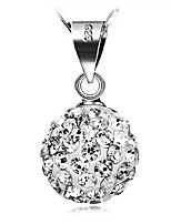 KIKI 925 silver 10MM full diamond circular pendant (not including the necklace)
