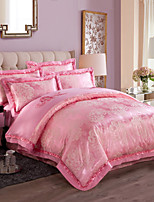 Good qulity Luxury Silk Cotton Blend Duvet Cover Sets Queen King Size Bedding Set