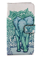 Elephant Pattern PU Leather Purse Stand Function Holster Case for LG G4