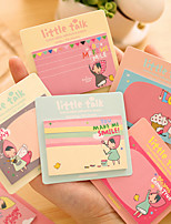 Lovely Girl Little Talk Cute/Business/Multifunction Paper Self-Stick Notes (Random Color)