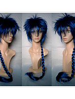2 Colors New Stylish  Man's Cosplay Wig Synthetic Hair Wigs Knitting Long Curly Animated Wigs Weaving  Party Wigs