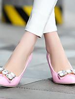 Women's Shoes  Wedge Heel Pointed Toe Pumps/Heels Office & Career/Dress Black/Yellow/Pink/Red
