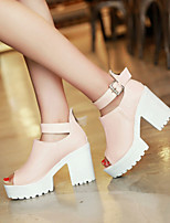 Women's Shoes  Chunky Heel Heels/Open Toe Sandals Dress Blue/Pink/White
