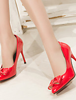 Women's Shoes Leather/Patent Leather Stiletto Heel Heels/Pointed Toe Pumps/Heels More Color available