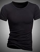 Katoenmix - Effen - Heren - T-shirt - Informeel / Werk / Formeel / Sport / Grote maten - Korte mouw