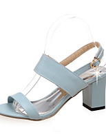 Women's Shoes  Chunky Heel Peep Toe Sandals Outdoor/Office & Career/Dress Black/Blue/White