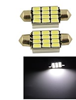 Carking™ Festoon 39mm-5630-12SMD Car LED Rome Lamp White Light (12V/2PCS)