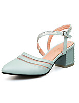 Women's Shoes  Chunky Heel Pointed Toe Pumps/Heels Outdoor/Office & Career/Dress Blue/Pink/White