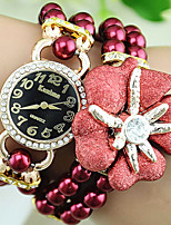 Жен. Часы-браслет Кварцевый сплав Plastic Группа Цветы Жемчуг Разноцветный