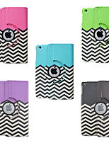 7.9 Inch 360 Degree Rotation Wave Pattern PU Leather Case with Stand for iPad mini 1/2/3