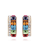 Vintage/Cute/Party Silver Plated/Alloy/Cubic Zirconia Stud Earrings