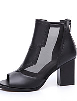 Women's Shoes Chunky Heel Peep Toe Ankle Boots Casual More Colors Available
