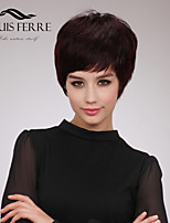 Charming Short Capless Straight Human Hair Wigs with Side Bang