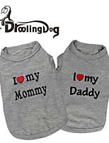 Camiseta - Todas as Estações - Cinzento Algodão - para Cães / Gatos - XS / S / M / L