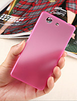 For Sony Case / Xperia Z3 Ultra-thin / Transparent Case Back Cover Case Solid Color Hard PC for SonySony Xperia Z3 / Sony Xperia Z3