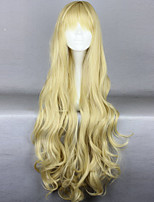 The New Wig Anime Characters Long Curly Golden  Hair Wigs