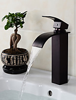 Contemporary Fashion style Oil-rubbed Bronze Bathroom Sink Faucet - Black