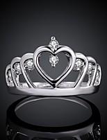 Anéis Zircônia Cubica Latão/Folheado a Prata Latão/Folheado a Prata Mulheres