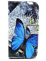Для Кейс для Alcatel Кошелек / Бумажник для карт / со стендом / Флип / Магнитный / С узором Кейс для Чехол Кейс для Бабочка Твердый