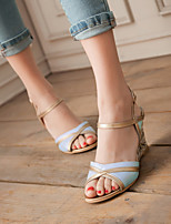 Women's Shoes Wedge Heel Wedges Sandals Dress Black/Blue/Beige