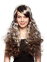 syntheic extensions de perruques couleur de mélange le style chaud de cosplay Bang de perruques