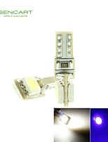T5  0.5W 2x5050SMD LED  Blue/White for Car Decorative / Instrument / Indicator Lamp (12V / 2-Piece)
