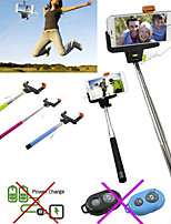 df pôle câble prise Selfie extensible poche porte-bâton monopode pour iPhone 4 / 4S / 5 / 5s / 6 / de 6plus (couleurs assorties)