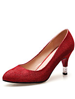 Women's Shoes Glitter Stiletto Heel Heels/Pointed Toe/Closed Toe Pumps/Heels Dress/Casual Black/Red/Silver/Gold