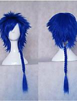 Cosplay Perücke synthetische Haarperücken neuen stilvollen Mannes Stricken langen lockigen Perücken Weben animierte blaue Partei Perücken