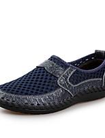 Для мужчин Мокасины и Свитер Удобная обувь Тюль Кожа Лето Для прогулок Для офиса Повседневный Комбинация материалов На низком каблуке