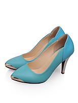 Scarpe Donna Similpelle A stiletto A punta/Chiusa Scarpe col tacco Ufficio e lavoro/Formale/Casual Blu/Viola