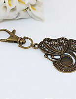 Fashion Unisex Retro Hollow Out Butterfly Pendant Keychains
