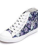 Chaussures Femme Toile Talon Plat Confort/Bout Arrondi Chaussures de Sport Extérieure/Décontracté/Sport Noir/Bleu/Blanc