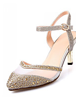 Women's Shoes Glitter/Calf Hair Kitten Heel Slingback Sandals Party More Colors available
