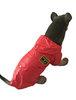 Red/Blue Waterproof Cotton Air Force Styles Big Rain Coat For Large Dogs