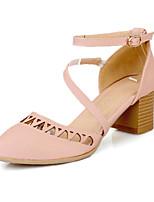 Women's Shoes Chunky Heel Heels Pumps/Heels Outdoor/Office & Career/Casual Pink/Purple/White