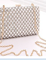 Women 's Cowhide Baguette Shoulder Bag - Gold/Silver/Black