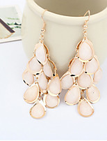 Vintage/Cute/Party Alloy/Acrylic Drop Earrings