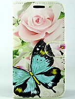 Rose butterfly PU Leather Full Body Wallet Protective Case with Stand and Card Slot For Sony Xperia M2 S50H