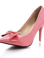 Women's Shoes Patent Leather Stiletto Heel Pointed Toe Pumps/Heels Office & Career/Dress Black/Blue/Red/Beige