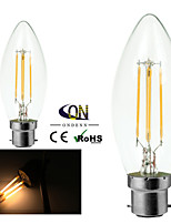 ONDENN B22 4 W 4 COB 400 LM 2800-3200K K Warm White A Dimmable Candle Bulbs AC 220-240/AC 110-130 V