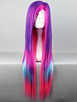 The New Wig Anime Characters Color Multicolor Mixed Long Straight Hair Wigs
