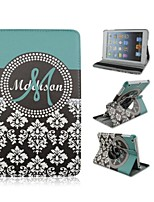 7.9 Inch 360 Degree Rotation Flower Pattern PU Leather Case with Stand and Pen for iPad mini 1/2/3