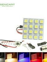 T10  BA9S SV8.5 G4 LED  3W 16X5050SMD LED 160LM  Blue/Red/Warm White/Yellow/White  for Car Light Bulb  (DC12-16V)