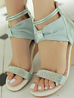 Women's Shoes Synthetic Wedge Heel Wedges Sandals Outdoor/Dress/Casual Blue/Beige