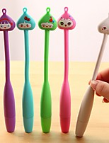 Curve Funny Expression Stylish Multi Color Ballpoint Pen (Random Delivery)