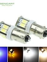 2 X BA9S W6W 5W 11x5630SMD 550LM Blue/Warm White/Yellow/Cool White for Car Side Lamp (DC12-16V)